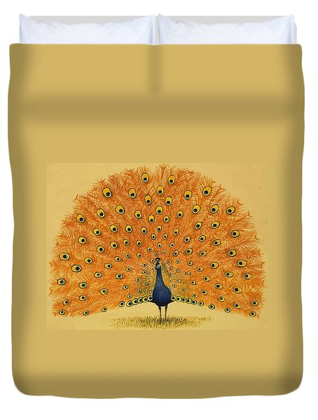 Peacock Duvet Cover by English School