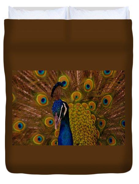 Peacock Duvet Cover by Jeff Swan