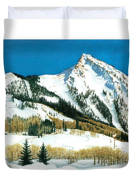 Peak Adventure Duvet Cover by Barbara Jewell