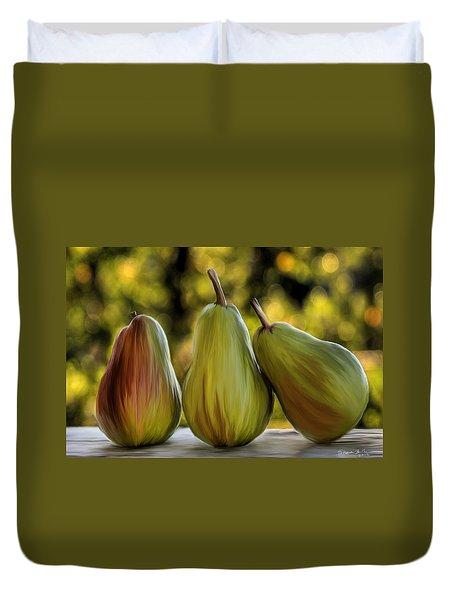 Pear Buddies Duvet Cover