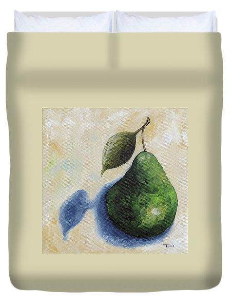 Pear In The Spotlight Duvet Cover