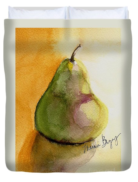 Pear Duvet Cover by Marcia Breznay