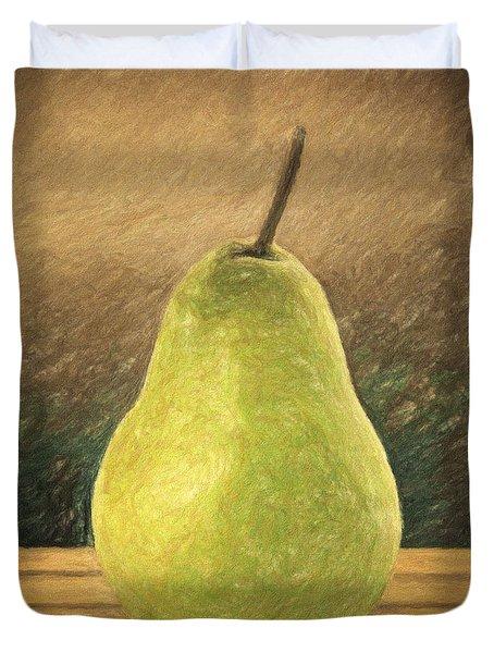 Pear Duvet Cover by Taylan Apukovska