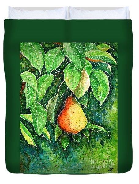 Pear Duvet Cover by Zaira Dzhaubaeva