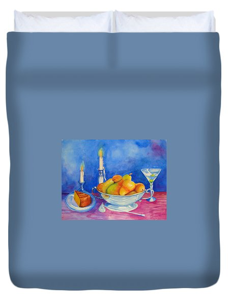 Pearis By Candlelight  Duvet Cover