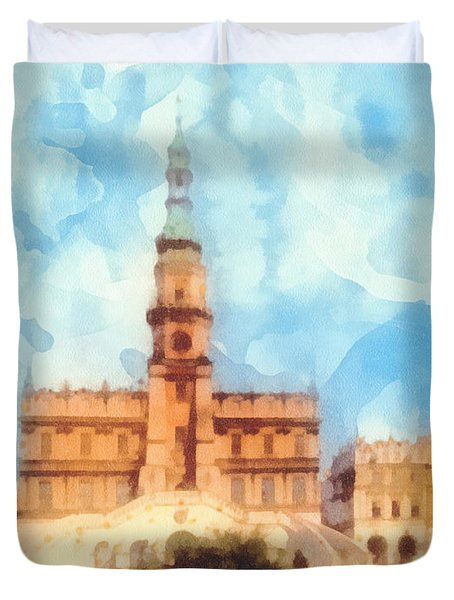 Pearl Of Renaissance Duvet Cover by Mo T