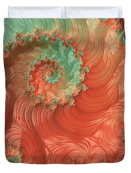 Duvet Cover featuring the digital art Pearls Of The Southwest by Susan Maxwell Schmidt
