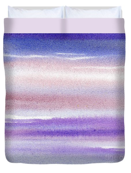 Pearly Sky Abstract IIi Duvet Cover