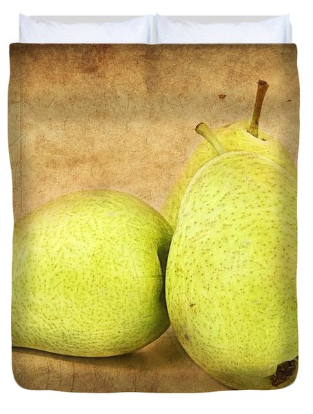 Pears Duvet Cover by Barbara Orenya