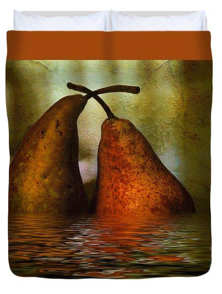 Pears In Water Duvet Cover