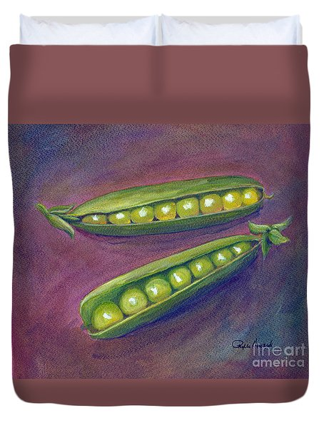 Peas In Their Pods Duvet Cover