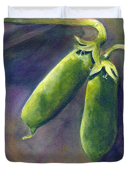Peas On The Vine Duvet Cover