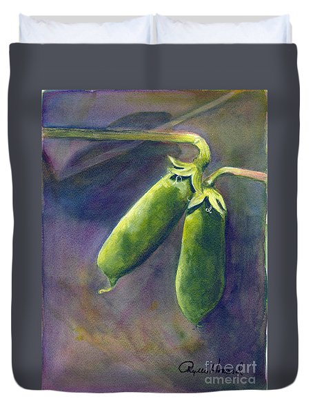 Peas On The Vine Duvet Cover