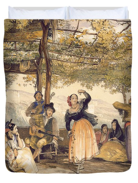 Peasants Dancing The Bolero Duvet Cover