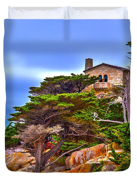 Pebble Beach Ca Duvet Cover
