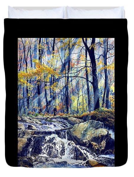 Pebble Creek Autumn Duvet Cover by Hanne Lore Koehler