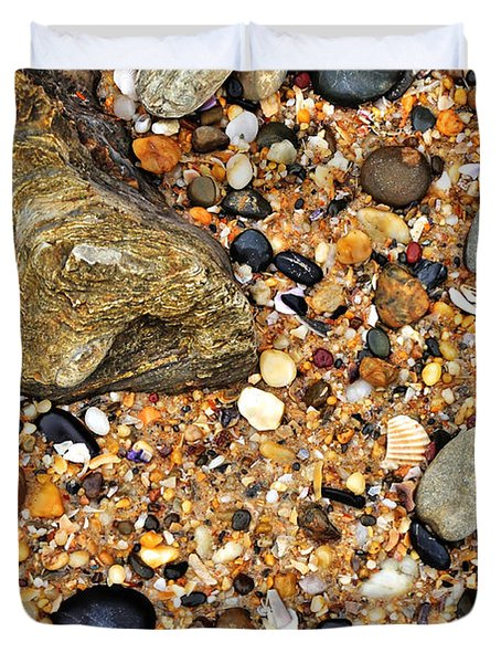 Pebbles And Sand Duvet Cover by Kaye Menner