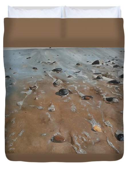 Pebbles Duvet Cover by Cherise Foster