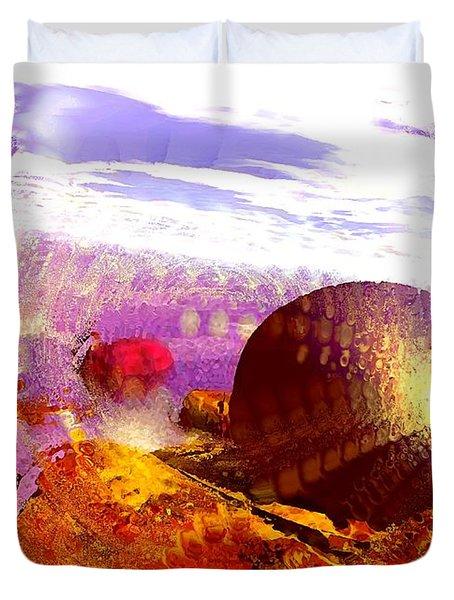 Pebbles On A Beach Duvet Cover by Anastasiya Malakhova