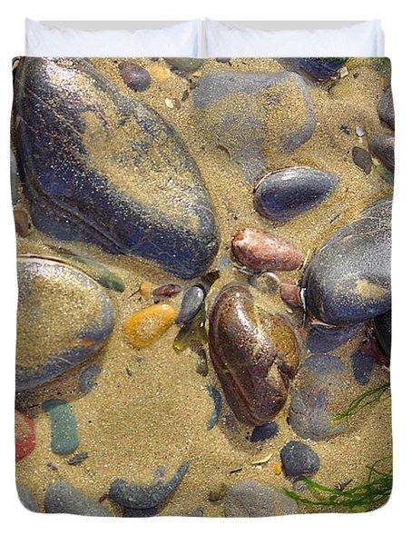 Pebbles On The Beach Duvet Cover