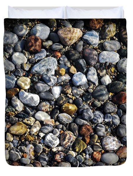 Pebbles Under Water Duvet Cover