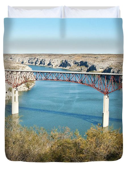 Duvet Cover featuring the photograph Pecos Bridge by Erika Weber