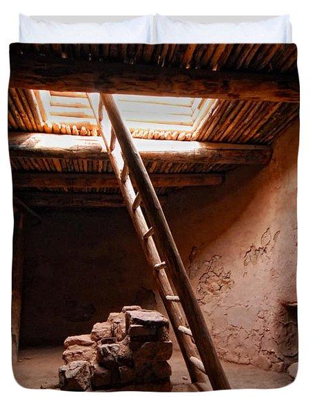 Pecos Kiva Ladder Duvet Cover