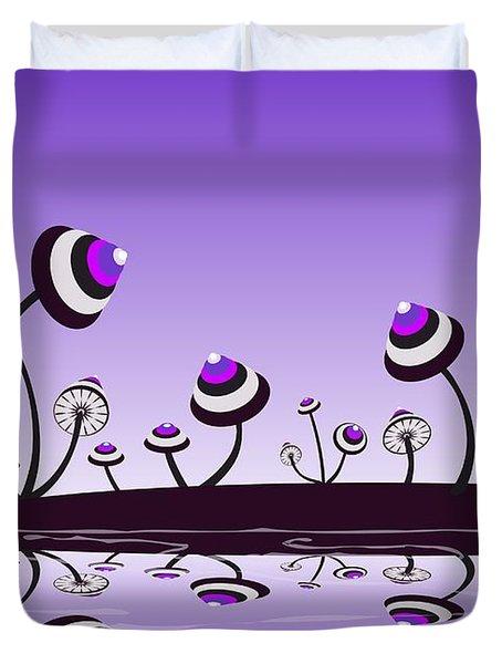 Peculiar Mushrooms Duvet Cover by Anastasiya Malakhova