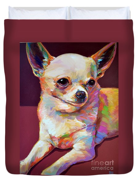 Duvet Cover featuring the painting Pedro by Robert Phelps
