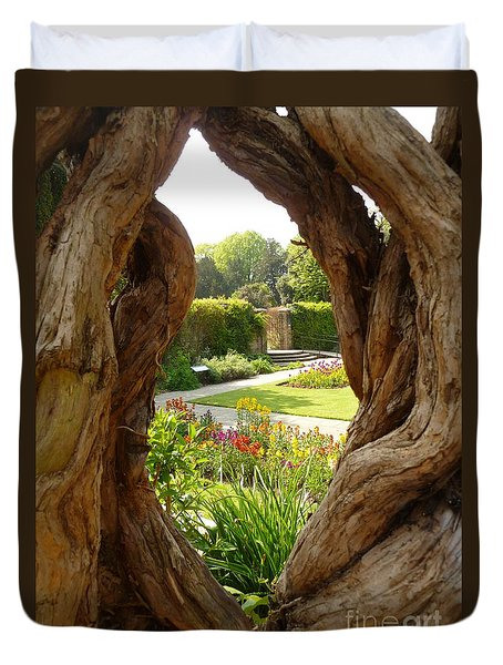 Peek At The Garden Duvet Cover by Vicki Spindler