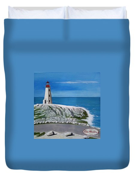 Peggy's Cove Duvet Cover by John Lyes