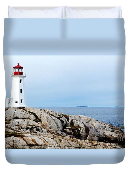 Peggy's Cove Light II Duvet Cover by Dan Dooley