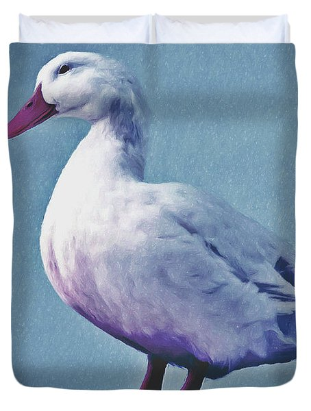 Pekin Ducks 2 Duvet Cover by Lanjee Chee