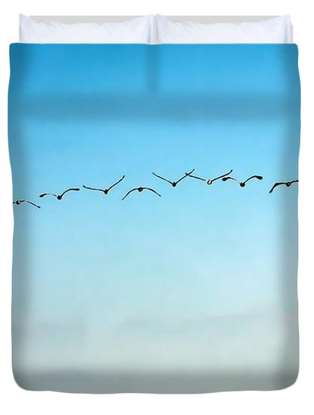 Pelican Flight Line Duvet Cover