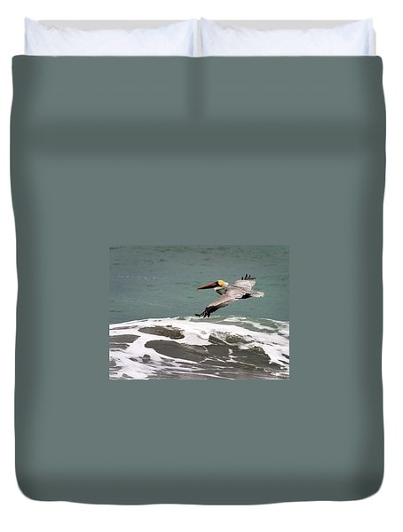 Pelican Flying Duvet Cover