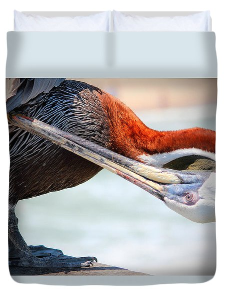 Pelican Itch Duvet Cover