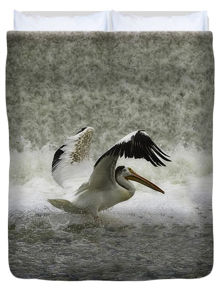 Pelican Landing In Color Duvet Cover by Thomas Young