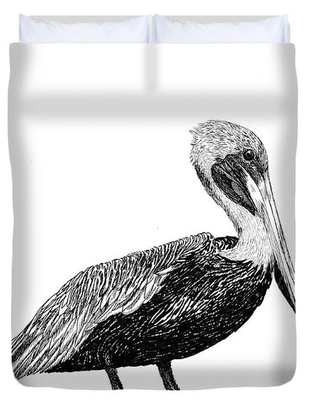 Pelican Of Monterey Duvet Cover by Jack Pumphrey