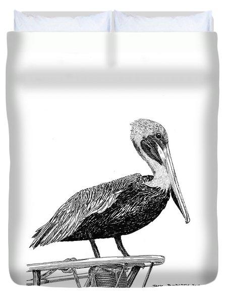 Monterey Pelican Duvet Cover