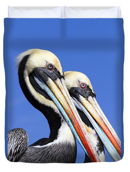 Pelican Perfection Duvet Cover by James Brunker