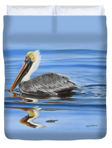 Pelican Ripples Duvet Cover by Phyllis Beiser
