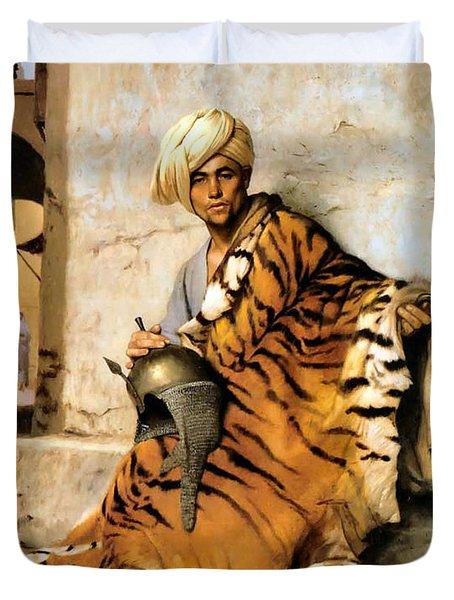 Pelt Merchant  Duvet Cover by Jean Leon Gerome