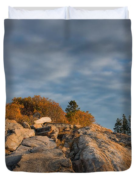 Pemaquid Point Light Vi Duvet Cover by Clarence Holmes