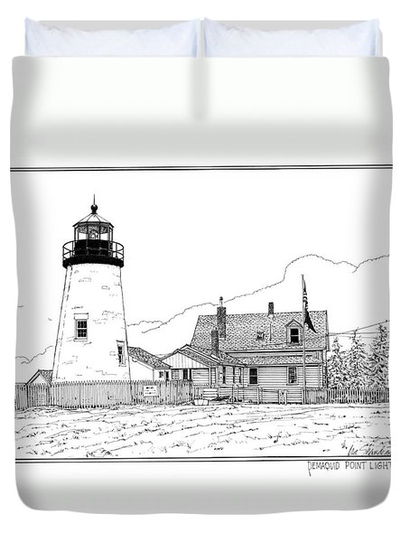 Pemaquid Point Lighthouse Duvet Cover by Ira Shander