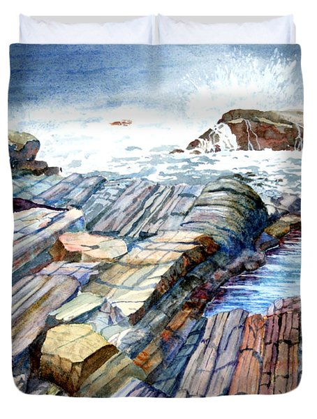 Pemaquid Rocks Duvet Cover