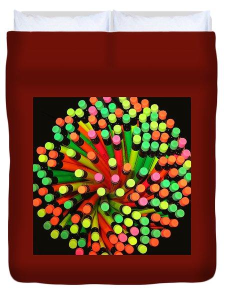 Pencil Blossom Duvet Cover