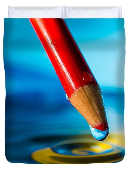 Pencil Water Drop Duvet Cover