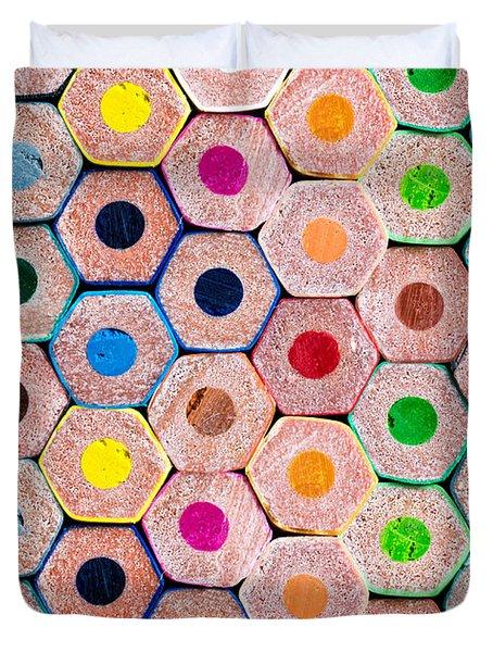 Pencils Duvet Cover