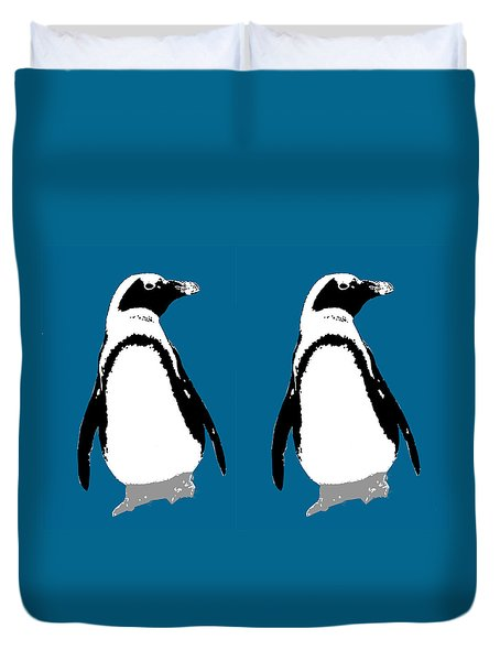 Penguin Twins  Duvet Cover