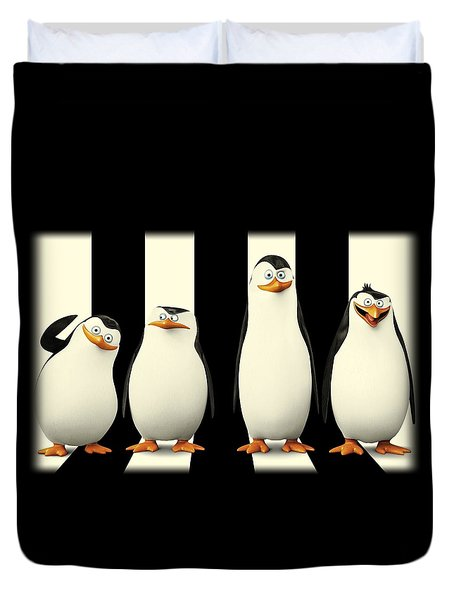 Penguins Of Madagascar Duvet Cover